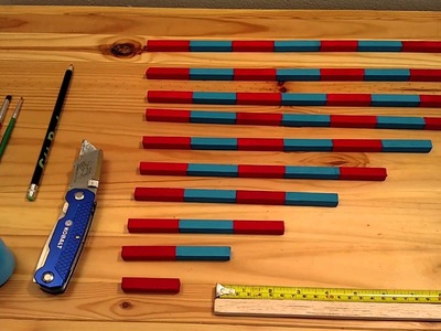 Make your own Montessori Counting Rods(DIY)$10