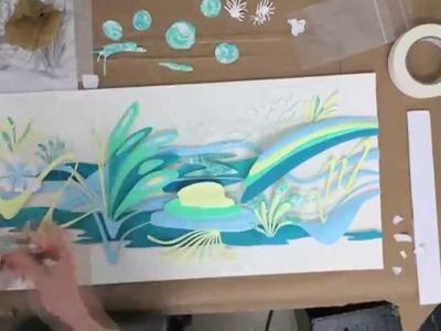 Paper Sculpture Time-lapse : The Dancing of Aquamarine