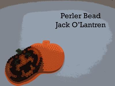 PERLER BEADS: Halloween Jack O'Latern 'Scary Pumpkin' Bead Kit