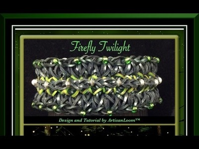 Rainbow Loom Band Firefly Twilight Bracelet Tutorial.How To
