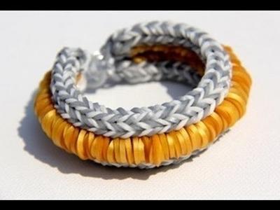 Rainbow Loom - Hollywood Bracelet (3D) - English Tutorial (Original Design) - Loom bands