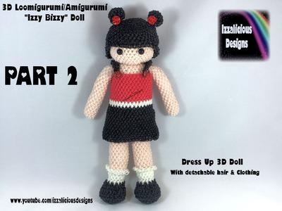 Rainbow Loom Loomigurumi Izzy Bizzy Dress Up Doll Part 2 - TORSO & ARMS - hook only (loomless)