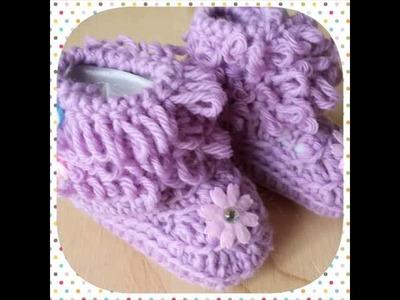 Scarpette a uncinetto,  baby shoes crochet