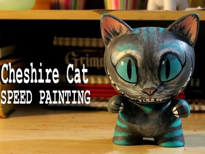 Speed Painting | Tim Burton's Cheshire Cat Munny