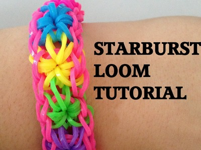 STARBURST (Original Method) Loom bracelet Tutorial Rainbow Loom l JasmineStarler