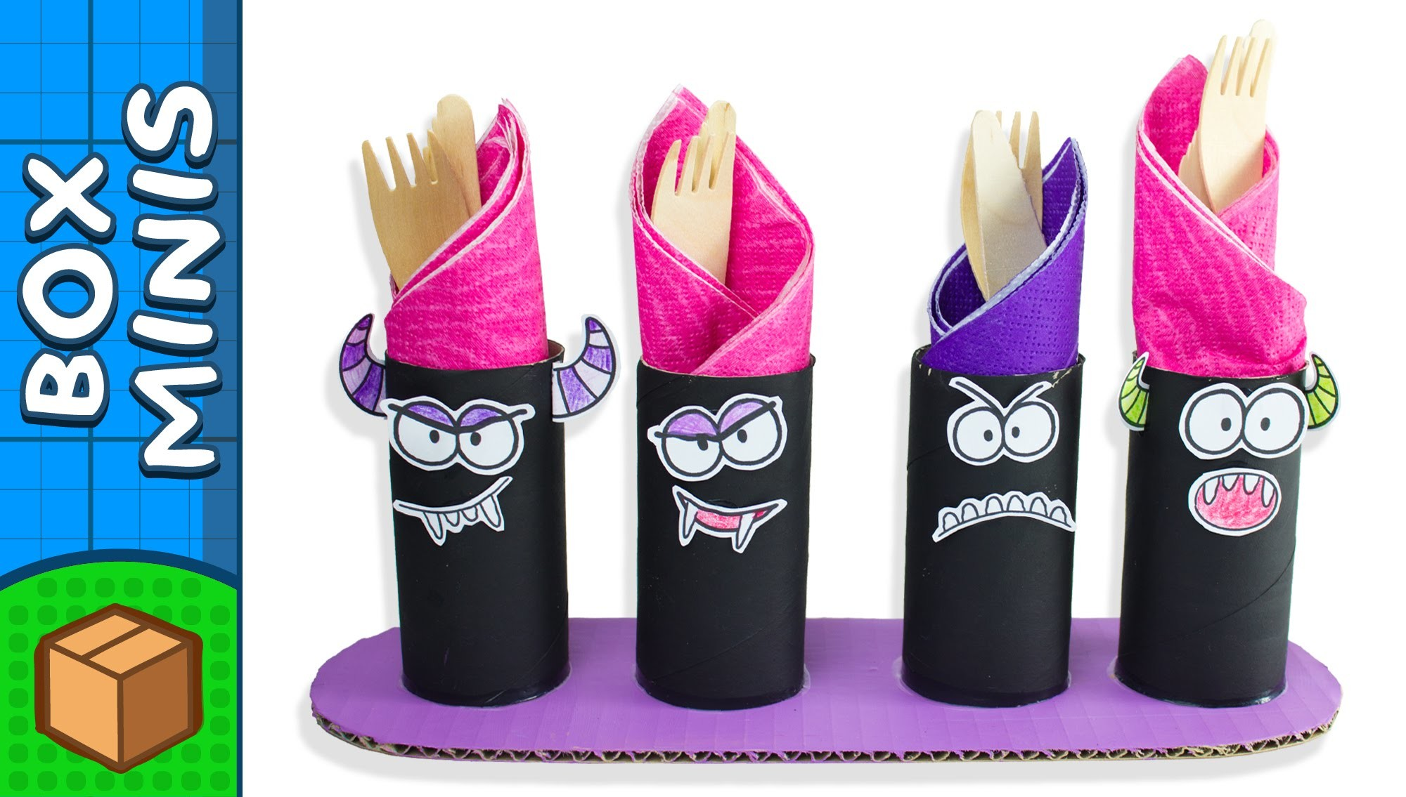 Toilet Roll Halloween Monsters - DIY Crafts Ideas For Kids | Box Minis on BoxYourself