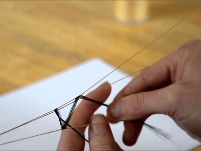 Tutorial, how to make a flat weft using synthetic hair