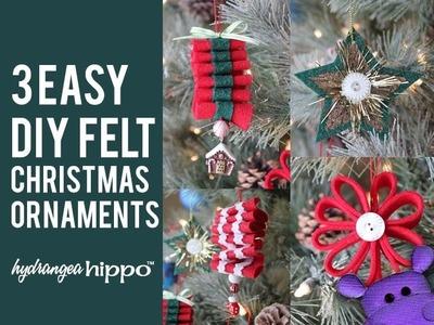 3 Easy DIY Felt Christmas Ornaments