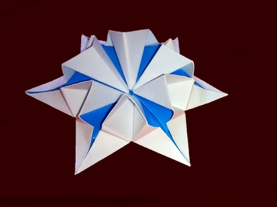 Amazing origami flower-star. 3d paper flower! Great Ideas for Christmas decor