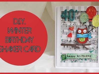 D.I.Y. Birthday shaker card - Shaker card di compleanno fai da te