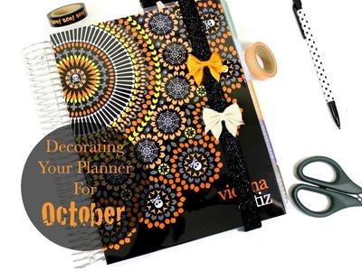Decorating Your Planner For October | Erin Condren | Dashboards, planner Bands, Paper Clips