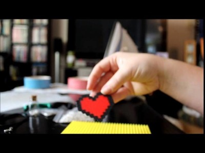 DIY 8 bit heart necklace