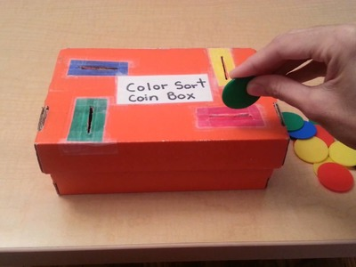 DIY: Color Coin Box Montessori Inspired for Toddlers