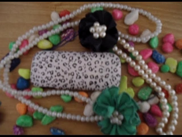 DIY Easy pearl and ribbon accessories for mobile,bags,keys. . .
