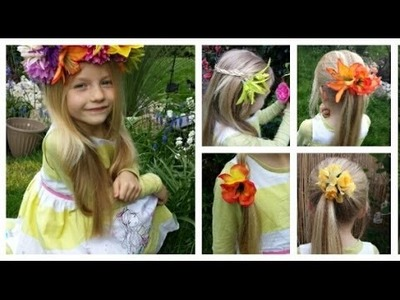 DIY:Floral Accessories!!Flower Crown,Hair Clips and MORE!!!!