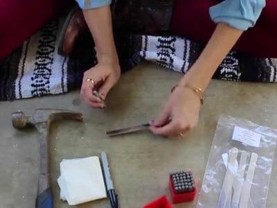 Diy hand-stamped metal cuff bracelet