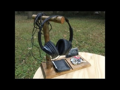 DIY Headphone Stand and Pocket Catch All