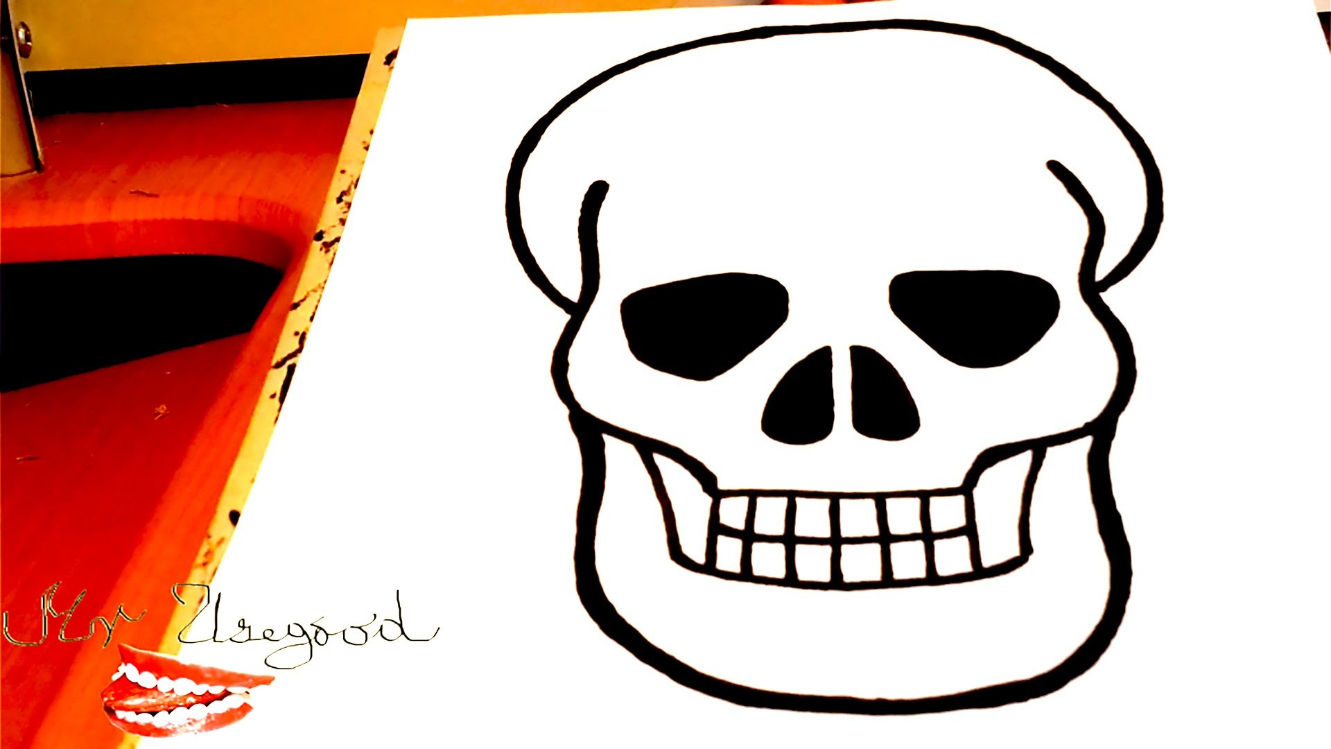 Diy How To Draw A Skull Real Easy For Kids With Pencil Draw Easy