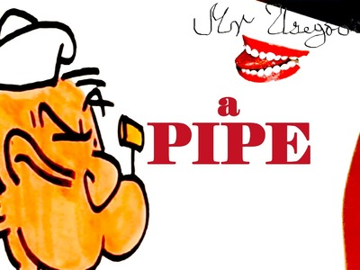 DIY How to draw easy stuff but cool on paper: draw a PIPE Step by Step EASY-Popeye PIPE