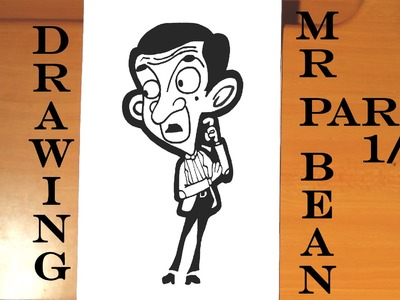 DIY How to draw MR BEAN Animated Cartoon Step by Step EASY, draw easy stuff but cool | 1.3