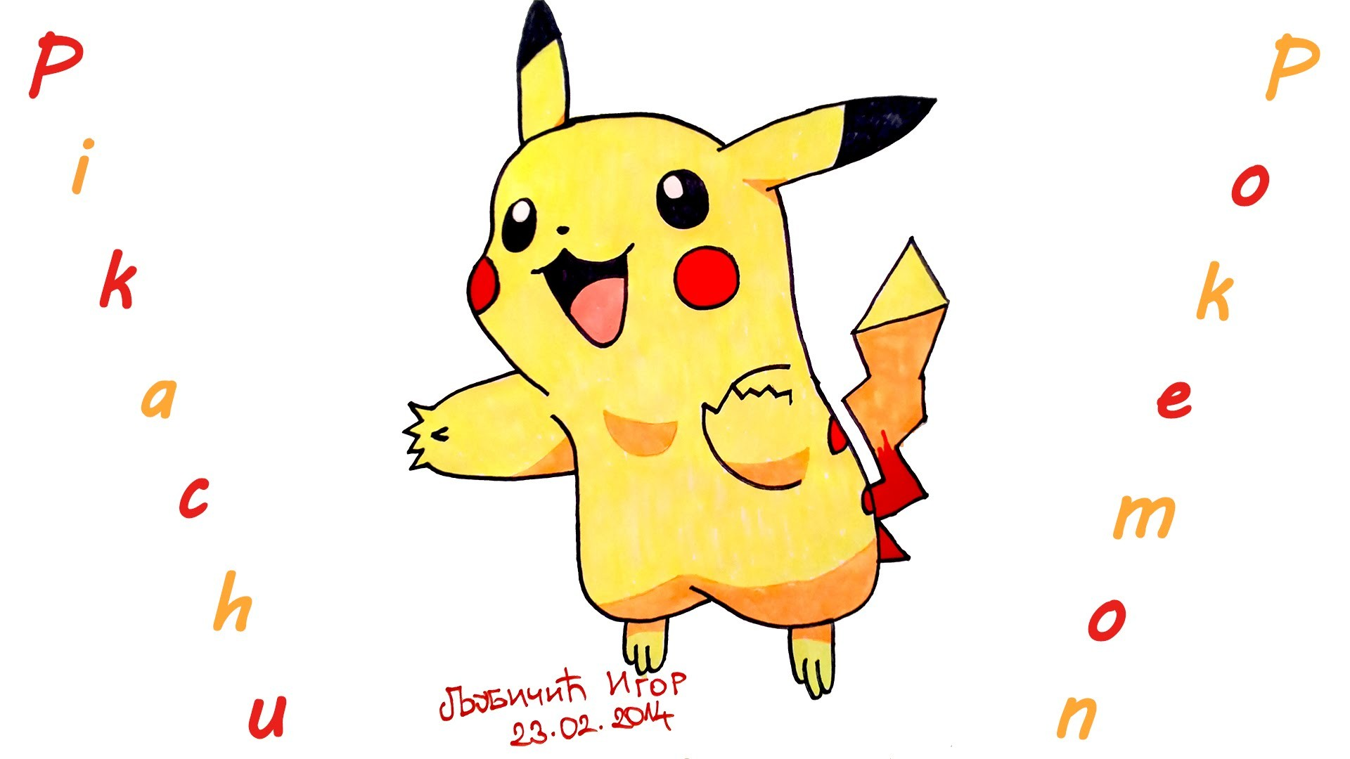 DIY How To Draw Pokemon Characters EasyPIKACHU