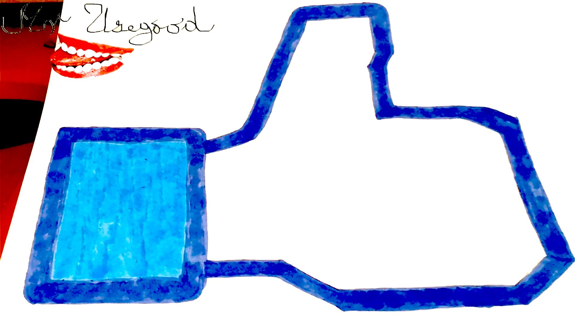 DIY How To Draw The Facebook LIKE Logo Easy