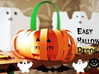 DIY: Paper Pumpkin, Bat and Ghost! Easy Halloween Decoration!
