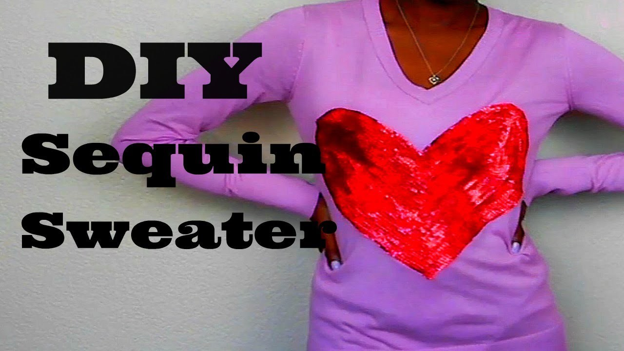 DIY Sequin Heart Sweater! | Wildfox Inspired | Reuploaded