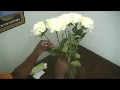 DIY-Silk Flower Arrangements in Acrylic Water