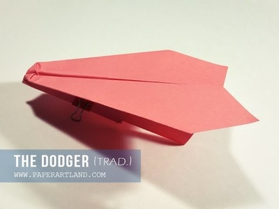 EASY PAPER AIRPLANE FOR KIDS - Dodger (Traditional)