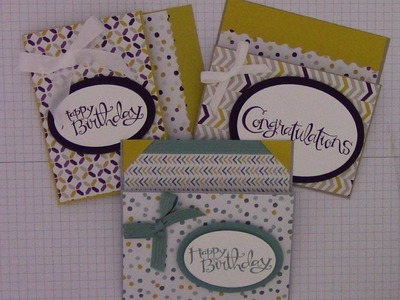 Flap Fold Money.Gift Card Holder using Stampin' Up Designer Series paper