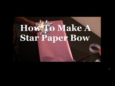 Gift Wrapping Video by Neelam Meetcha - How To Make A Star Paper Bow