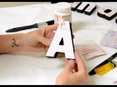 How to cover a 3D letter in decorative paper