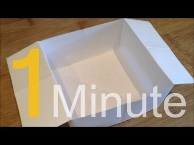 How To Make a Box Out of A4 Paper In One Minute