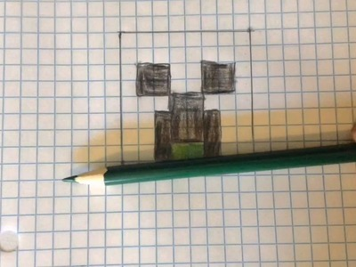 How to make a creeper head with (graph paper)