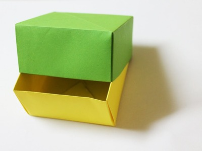 How to make a paper box with a lid
