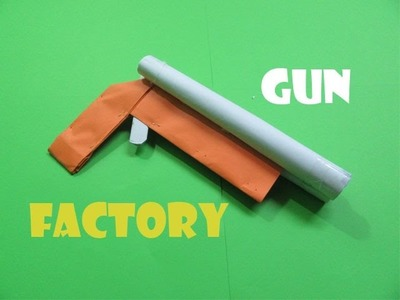How to Make a Paper Gun  that shoots Rubber Bands - Easy Tutorials