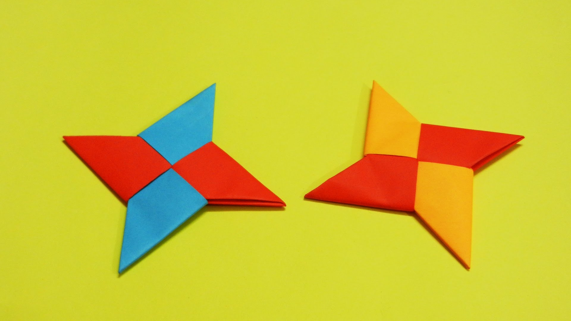 How to make a Paper Ninja Star | Origami Ninja Star | Tutorial