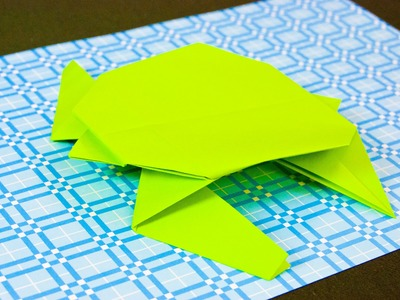 How to make a paper turtle origami