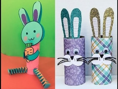 How to make a rabbit by paper core (Toilet Paper Roll) for kids