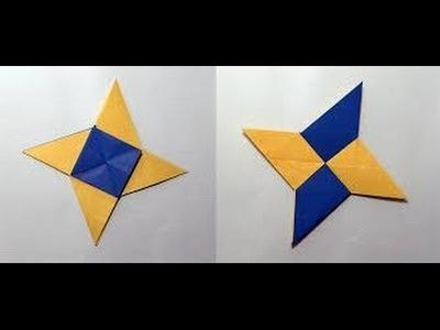 How To Make An Origami Ninja Weapons How To Make Origami Paper Shuriken Ninja Star HD