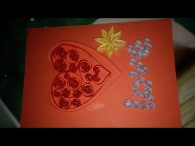 How to make Beautiful Card using Paper Art || Quilling Made Easy