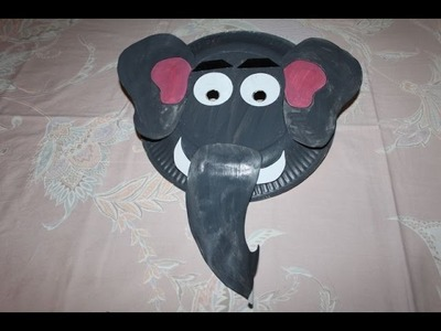 How to Make Elephant Paper Plate Party Masks | Paper Art and Craft Ideas for Kids