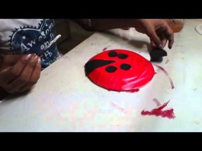 How to make ladybird with paper plate,ladybird made of paper plate,easy ladybird for kids
