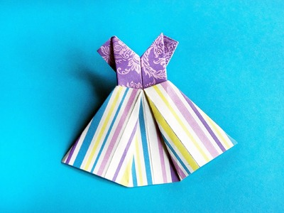 How to make paper dress origami
