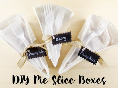 How to Make Paper Plate Pie Slice Boxes