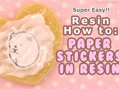 HOW TO - Make Resin Jewelry Using Paper Stickers [SUPER EASY] 10-27-14