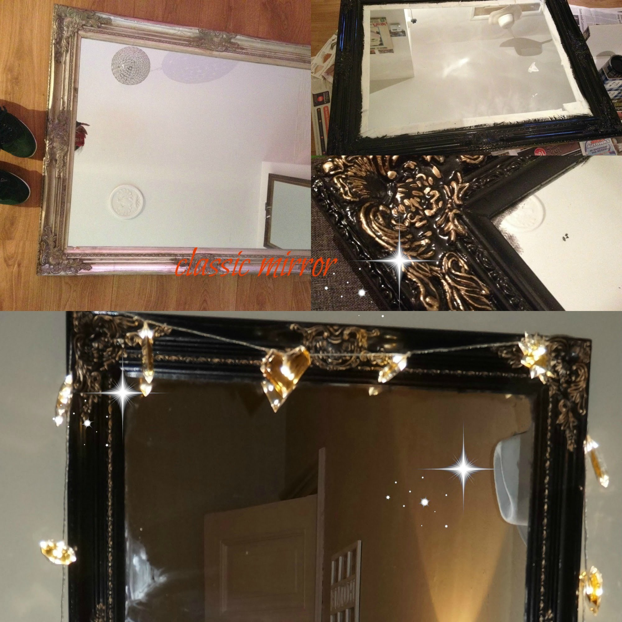 How to paint are mirror frame. from old to classic (DIY)