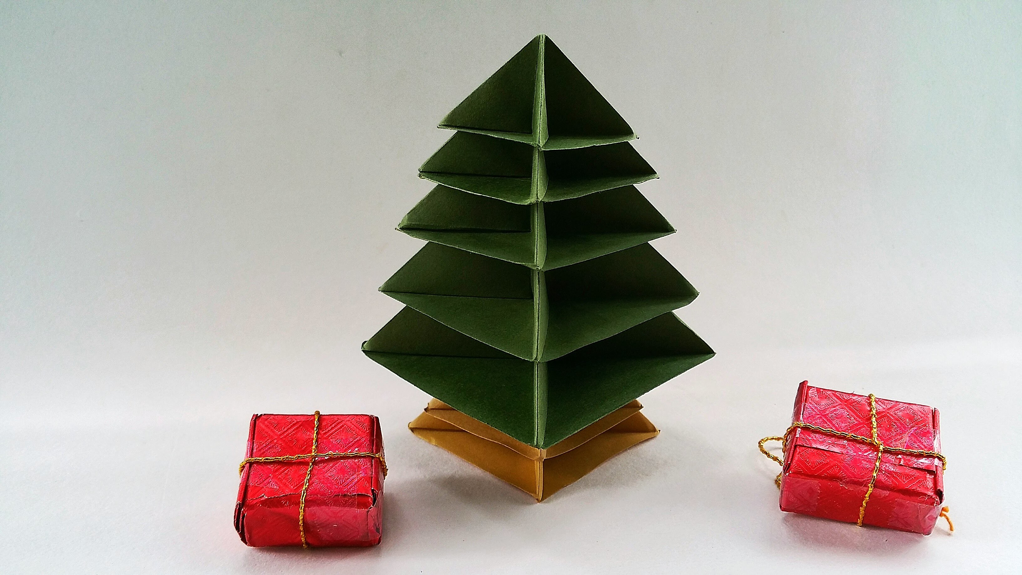 Modular Origami - Paper Christmas Tree - Very easy to make - photo#22