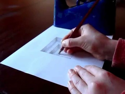 NORMAL SPEED: Raw Cut - The Original Amazing 3D Hole In Paper Drawing Timelapse
